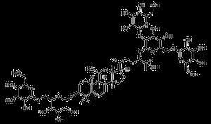 Chemical structure of mogroside-V