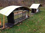 beehives ready for winter