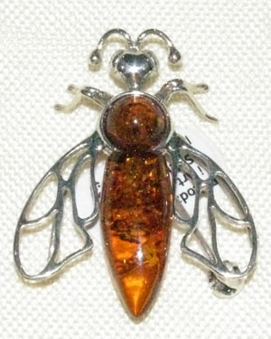 Silver and Amber Queen Honeybee