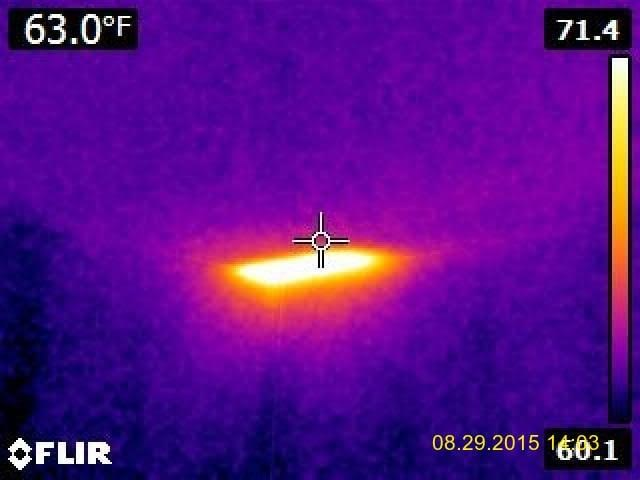 Infrared photo Interior active hive in ceiling