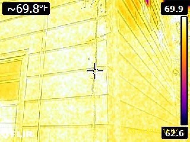 Exterior Infrared photo looking for beehive