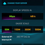 OnStar Speed Test Source IP